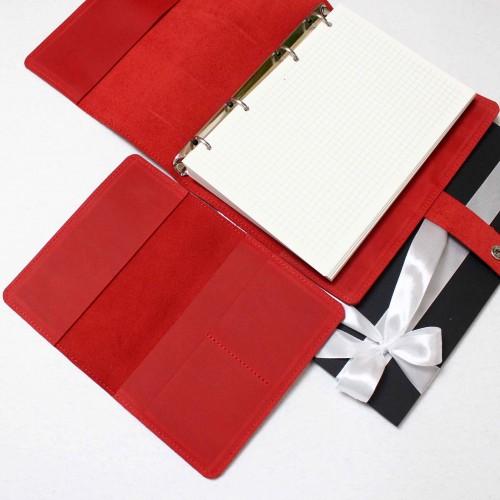 Подарунковий набір шкіряних аксесуарів ►Business Red від Franklin-6