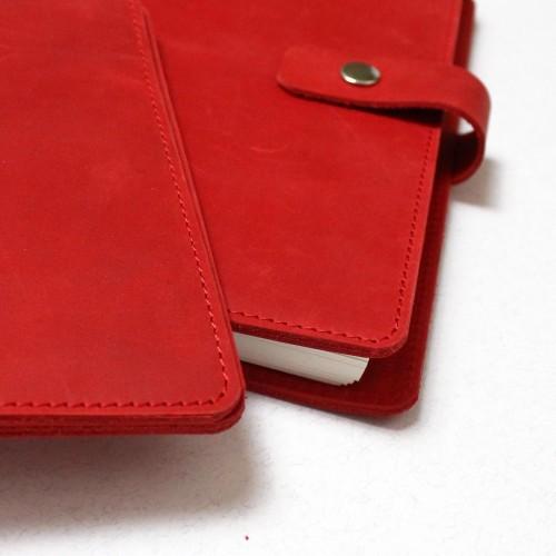 Подарунковий набір шкіряних аксесуарів ►Business Red від Franklin-4
