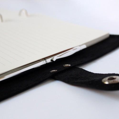 Подарочный набор для мужчин с алкоголем, кожаным блокнотом и ручкой Business Box ▶ FRANKLIN -6