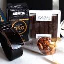 Подарунковий бокс з шкіряним ременем, шоколадом та кавою ►Caramel-3