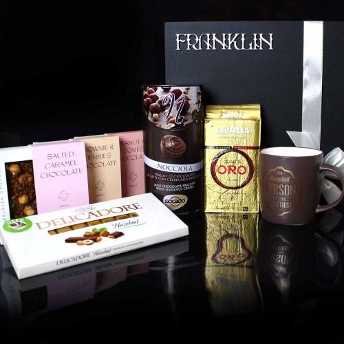Вишуканий подарунковий бокс з чашкою, кавою та шоколадом Choco Boom ▶FRANKLIN -5