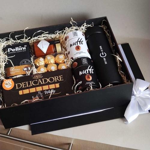 Деловой подарочный набор для мужчин с кофе и шоколадом СhocoNuts Mix ▶FRANKLIN -7