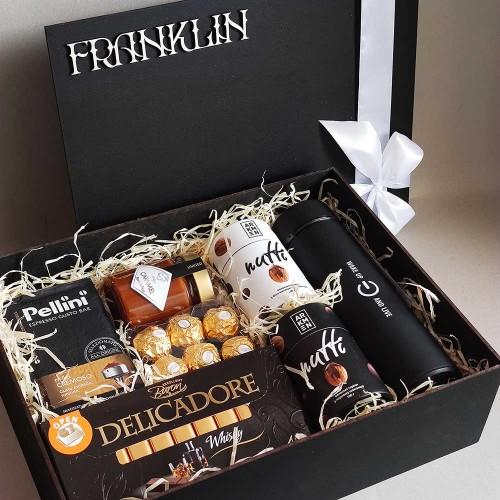 Деловой подарочный набор для мужчин с кофе и шоколадом СhocoNuts Mix ▶FRANKLIN -2