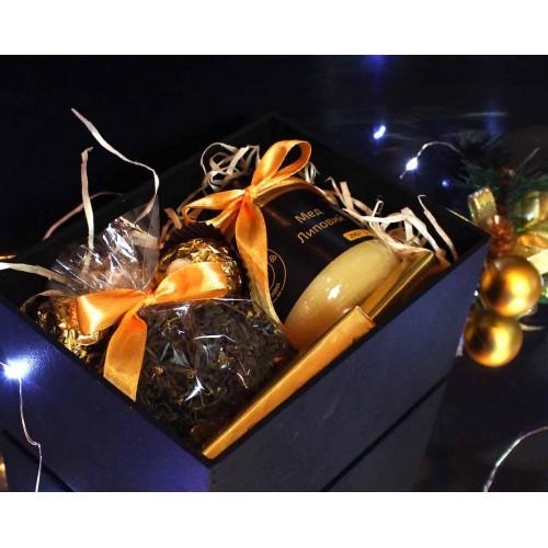 Набір подарунковий з чаєм та медом Cozy ►FRANKLIN-3