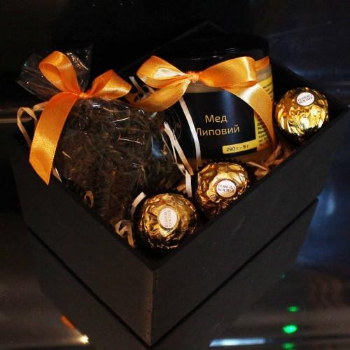 Набір подарунковий з чаєм та медом Cozy ►FRANKLIN-2