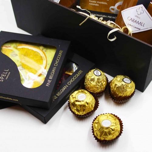 Набір подарунковий з бельгійським шоколадом, карамеллю та кавою Delicious ►FRANKLIN-2