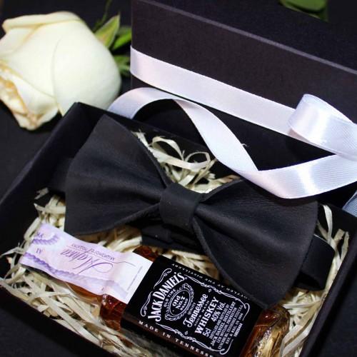 Подарочный набор для мужчин с кожаной бабочкой Elegant Man ►FRANKLIN -2