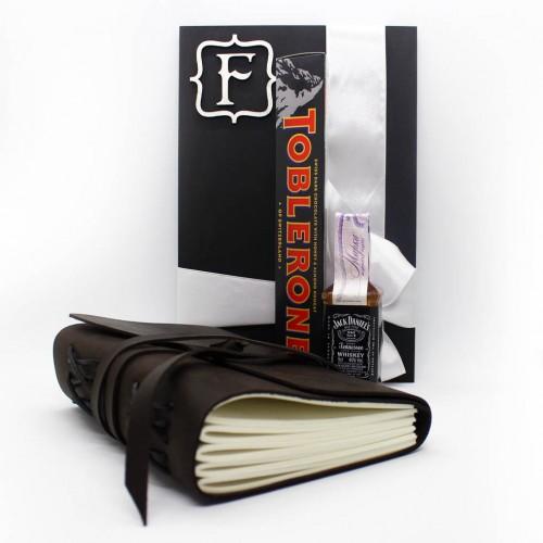 Подарочный набор для мужчин с кожаным блокнотом ручной работы For your Dreams ▶ FRANKLIN -1