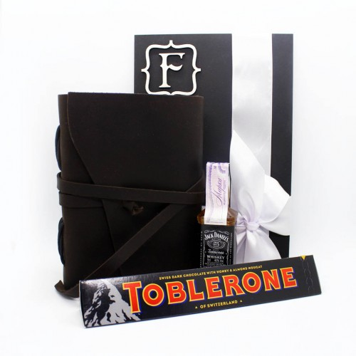 Подарочный набор для мужчин с кожаным блокнотом ручной работы For your Dreams ▶ FRANKLIN -4