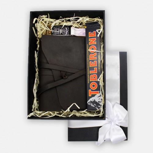 Подарочный набор для мужчин с кожаным блокнотом ручной работы For your Dreams ▶ FRANKLIN -3