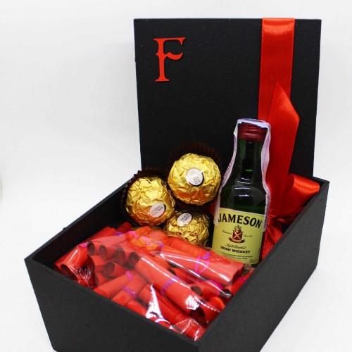Подарочный набор с записками о любви, виски и конфетами My Love ►Franklin-3