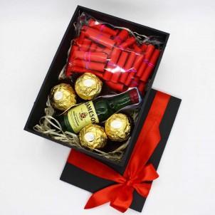 Подарочный набор с записками о любви, виски и конфетами My Love ►Franklin-1