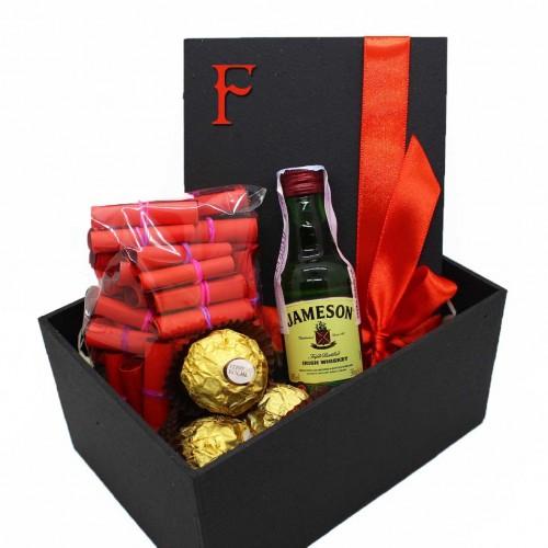 Подарочный набор с записками о любви, виски и конфетами My Love ►Franklin-2