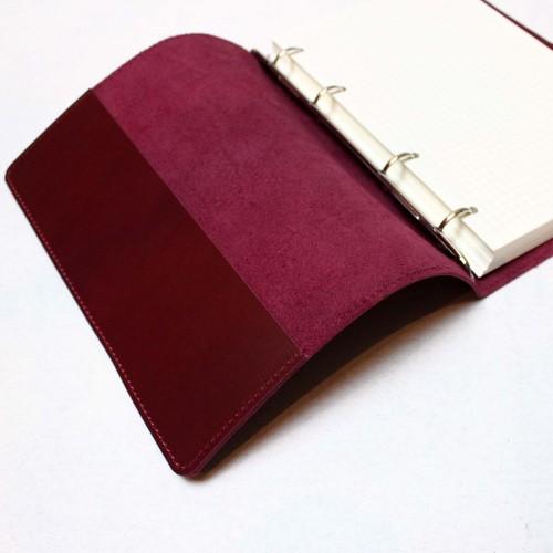 Кожаный блокнот на кольцах Business Bordo-5