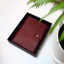 Кожаный блокнот на кольцах Business Bordo-2