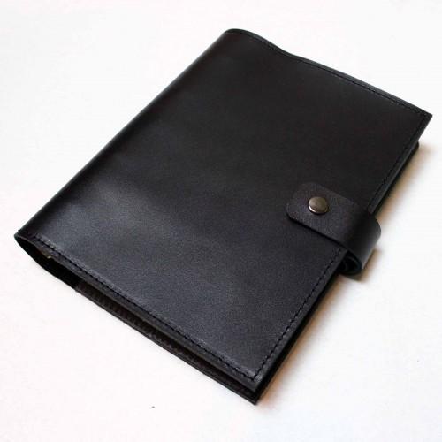 Кожаный блокнот на кольцах Prestige Black-4
