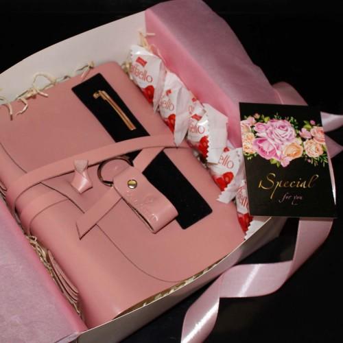 Женский набор с кожаным блокнотом и ручкой Dolly ▶FRANKLIN -1