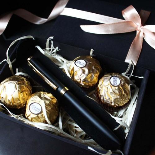 Деловой подарочный набор с металлической ручкой Senator ▶ FRANKLIN -3