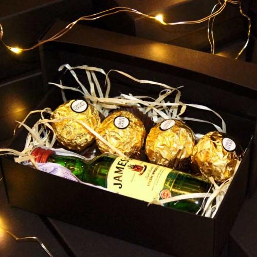 Подарочный набор для мужчин с алкоголем Small Blac...-2