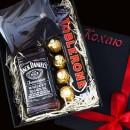 Мужской подарочный набор с кожаным портмоне и виски Solid-3