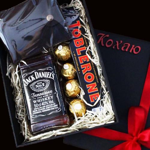 Подарочный набор для мужчин с виски и кожаным портмоне Solid ▶FRANKLIN -3
