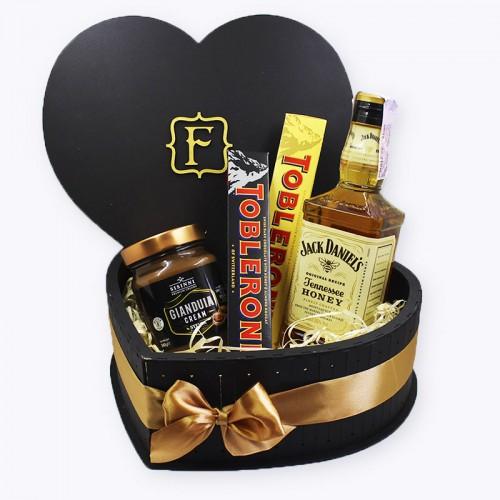 Набір для коханого чоловіка з алкоголем ►Choco Heart-1