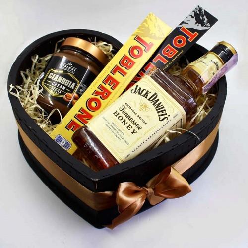 Набір для коханого чоловіка з алкоголем ►Choco Heart-2