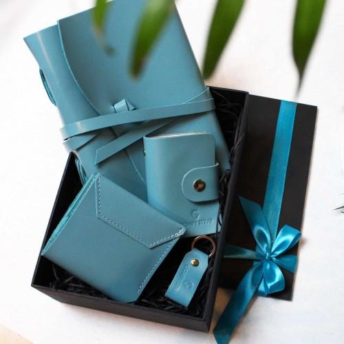 Жіночий набір шкіряних аксесуарів ►Wave Tiffany від Franklin-7