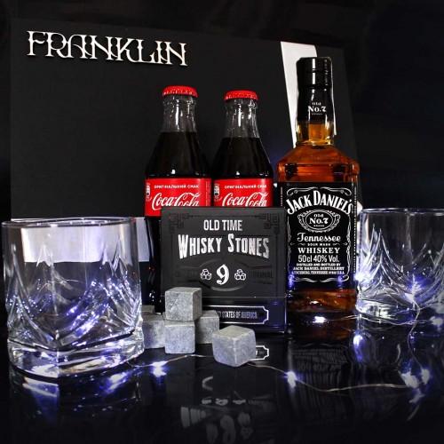 Мужской подарочный набор с виски и аксессуарами для виски Wiskey Fun ▶FRANKLIN -4