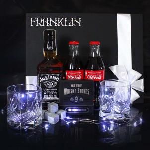 Мужской подарочный набор с виски и аксессуарами для виски Wiskey Fun ▶FRANKLIN -1