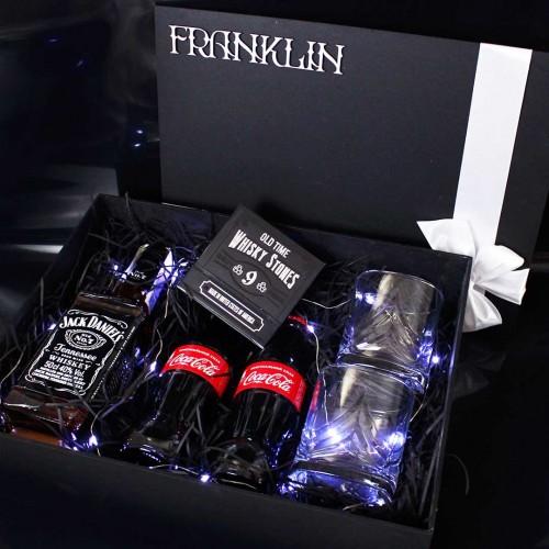 Мужской подарочный набор с виски и аксессуарами для виски Wiskey Fun ▶FRANKLIN -2