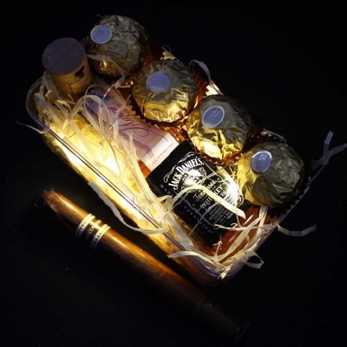 Светящийся подарочный набор для мужчин с алкоголем WOW Effect ▶FRANKLIN -4