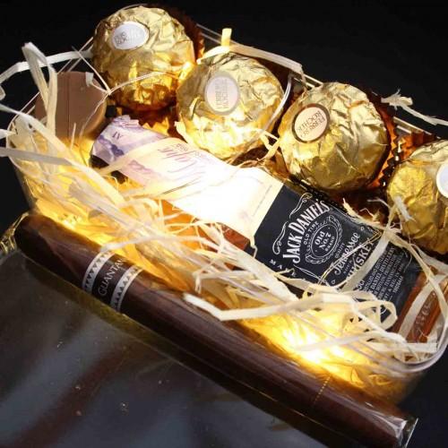 Светящийся подарочный набор для мужчин с алкоголем WOW Effect ▶FRANKLIN -2