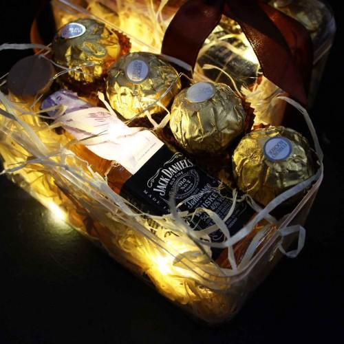Светящийся подарочный набор для мужчин с алкоголем WOW Effect ▶FRANKLIN -5