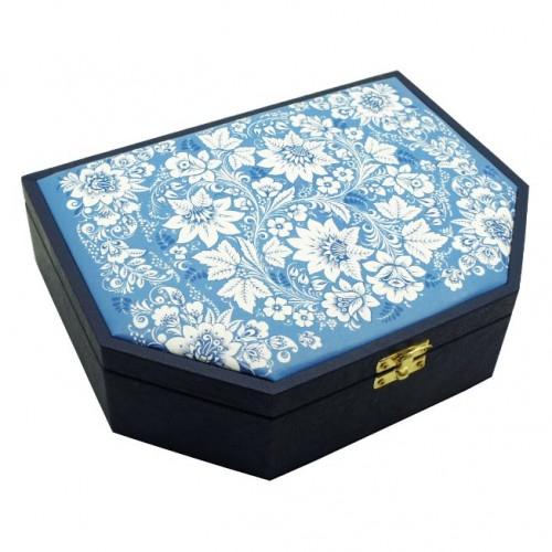 Скарбничка для прикрас 3 в 1 Візерунок Синя-3