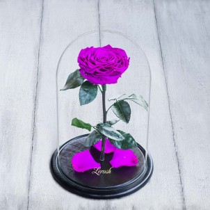 Роза в колбе Lux 30 см Фиолетовая-1