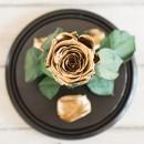 Золотая роза в колбе Standart-3