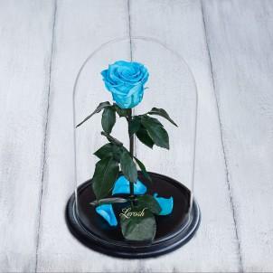 Роза в колбе Standart 33 см Бирюзовая-1