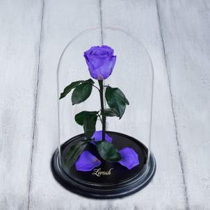 Роза в колбе Standart 33 см Лиловая-1