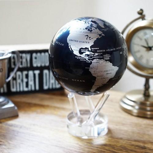 Глобус самовращающийся Политическая карта Black Silver -3