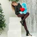 Плюшевый мишка с сердцем Фрэнк Голубой-4
