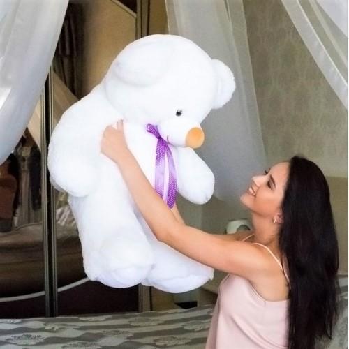 Плюшевый медведь Белый Томми 100 см