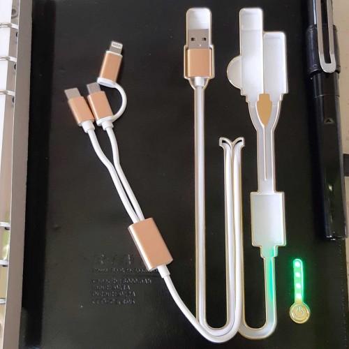 Ежедневник со встроенным PowerBank и системой беспроводной зарядки Black-3