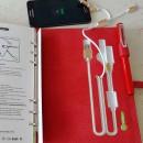 Ежедневник со встроенными PowerBank, USB и флешкой Red + система беспроводной зарядки-5