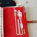 Ежедневник со встроенными PowerBank, USB и флешкой Red + система беспроводной зарядки-2