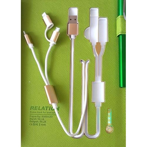 Ежедневник с PowerBank, USB-выходами и флешкой 16 Gb Green -9