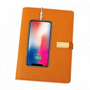 Ежедневник с PowerBank, USB-выходами и флешкой 16 Gb Orange-1