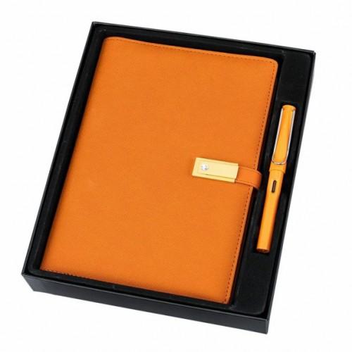 Ежедневник с PowerBank, USB-выходами и флешкой 16 Gb Orange-7