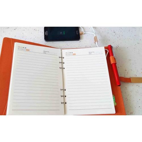 Ежедневник с PowerBank, USB-выходами и флешкой 16 Gb Orange-5