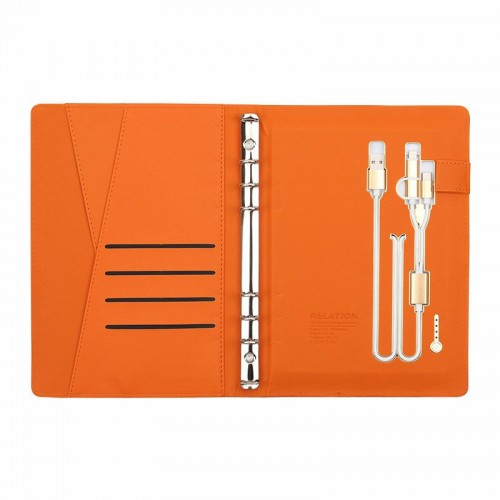 Ежедневник с PowerBank, USB-выходами и флешкой 16 Gb Orange-6